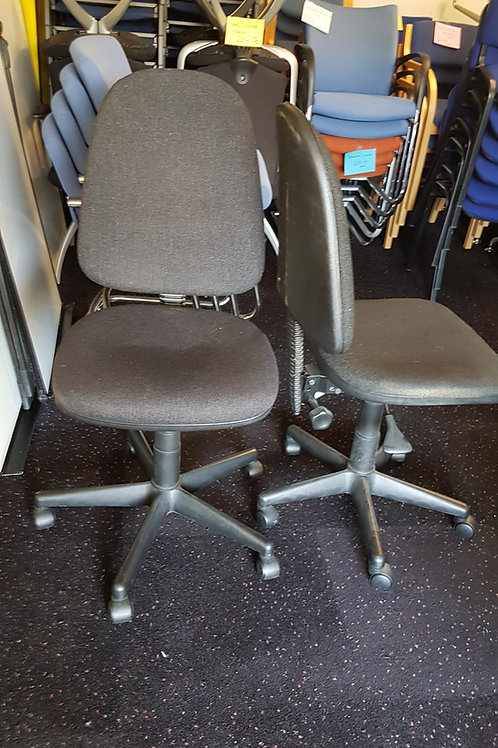 Basic Black Office Swivel Chairs.