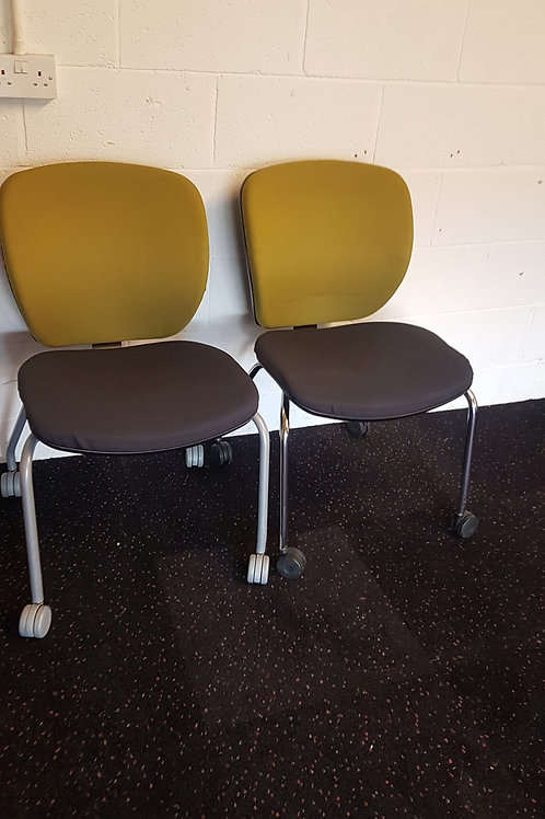 Pair of Office Meeting Room Chairs by Orangebox