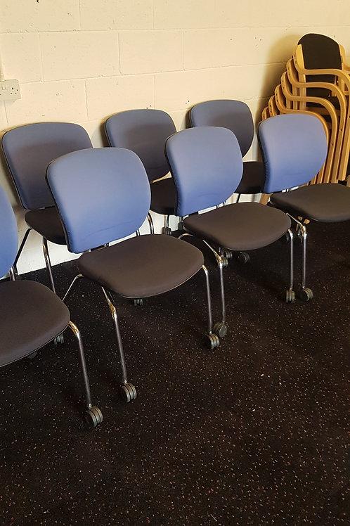 Blue and Black Meeting Room Chairs By Orangebox