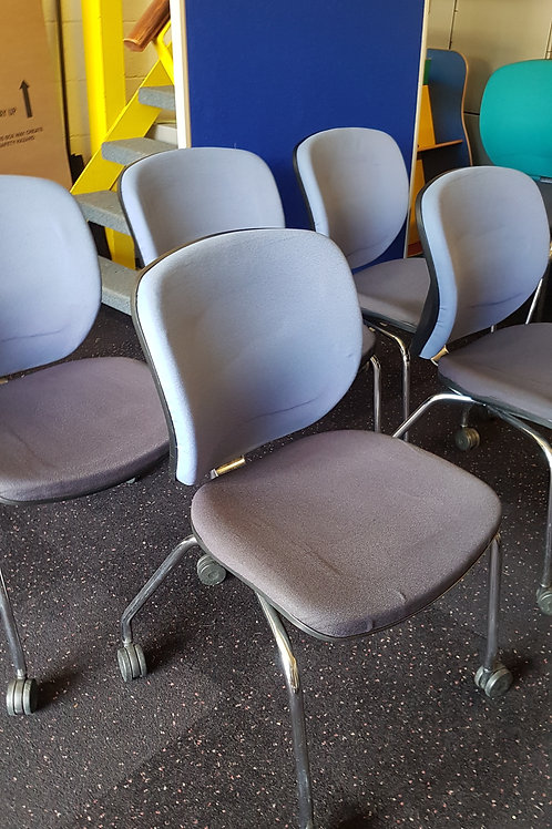 Orangebox Dull Blue Office Meeting Room Chairs