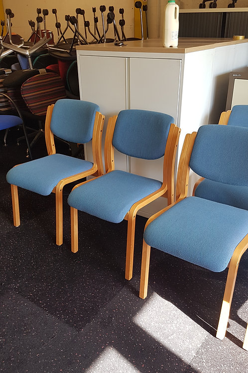 Light Blue Office Stacking Chairs / Office Reception Chairs