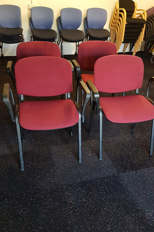 Red Stacking Chairs With Arms