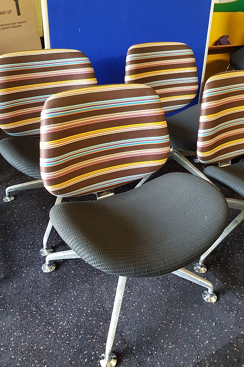 Unusual Good quality Orangebox multi-striped Office Reception Chairs