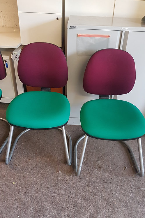 Two colour reception chairs.