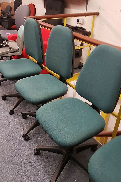 Green office swivel chairs by Euro Ring for viewing