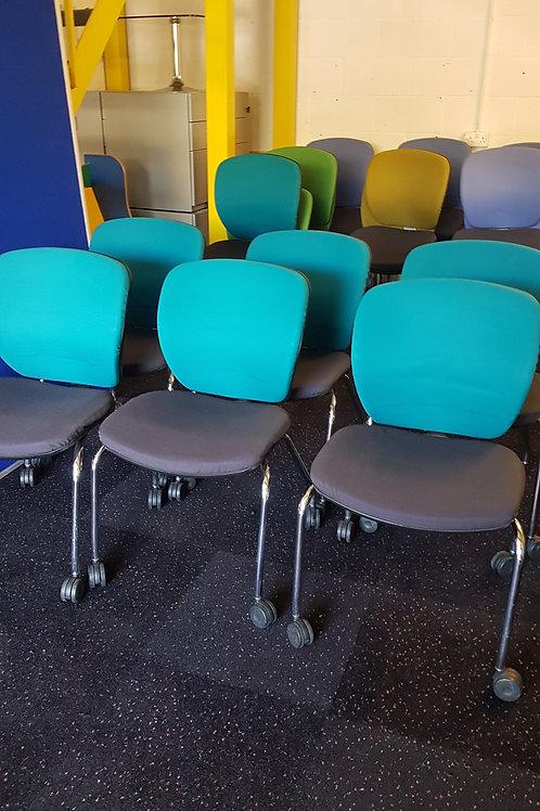 Orangebox  Torquoise Office Meeting Room Chairs