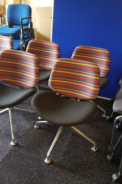 Orangebox  Multi Coloured striped office reception chairs