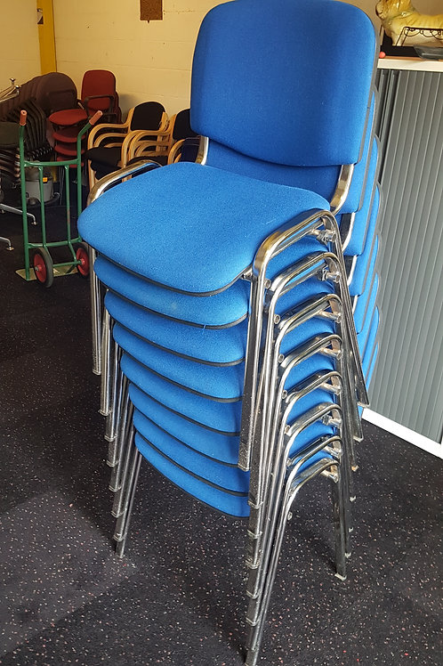 Blue Office Stacking Chairs With removable arms