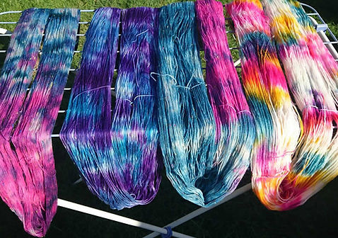 Dyed Wool Drying