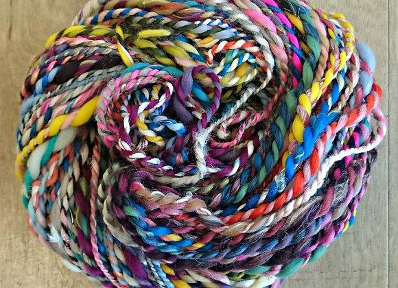 Hand spun, chunky Carnival Yarn