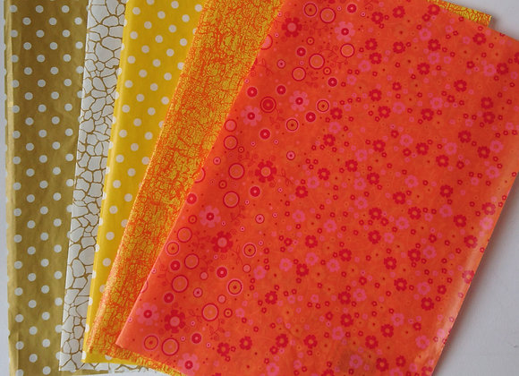 Decopatch paper pack - Yellow, Orange and Gold