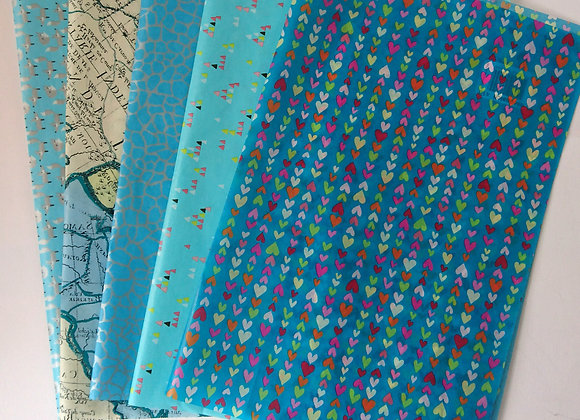 Decopatch paper pack - Pale blues