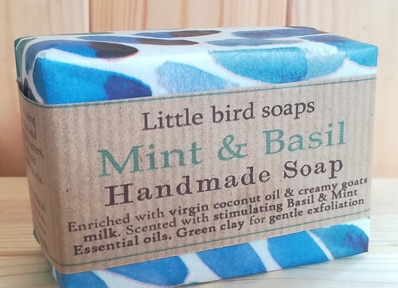 Handmade Soap- Mint and Basil