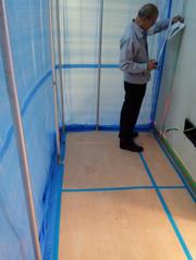病院内躯体壁解体工事