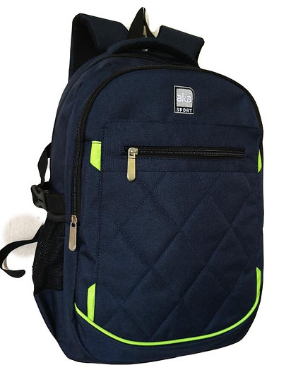 Quilted Front Double Entry Backpack