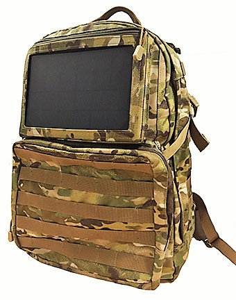 Solar Powered Tactical Backpack