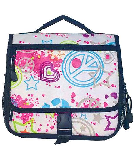 Peace Print Messenger Lunch Bag