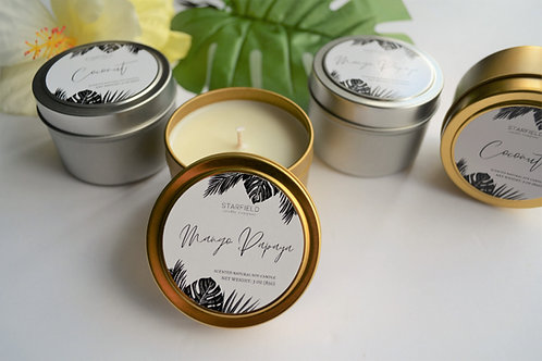 PARADISE collection | Mango Papaya scented natural soy candle