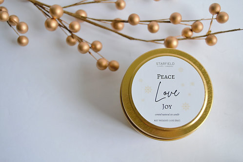 PEACE LOVE JOY | Winter Scented Candle