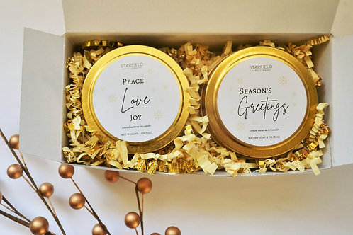 Winter Candle Gift Box | 2-piece gift box | Winter Scented Candle