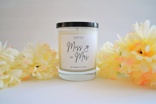 MISS TO MRS candle | 10-oz Natural Soy Candle