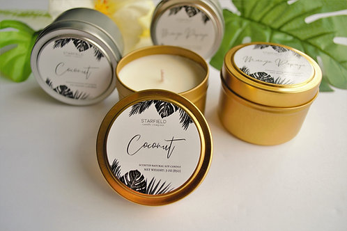PARADISE collection | Coconut scented natural soy candle