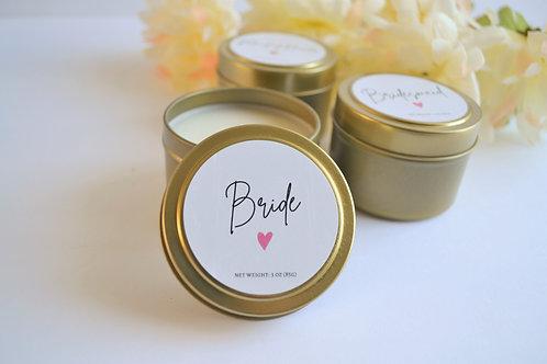 BRIDE | Bridal Party 3-oz travel tin candle