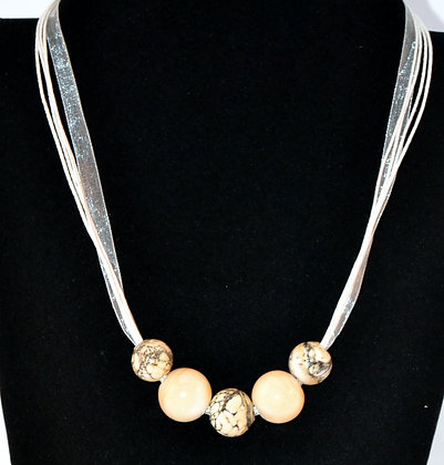 Silvered Ivory Necklace
