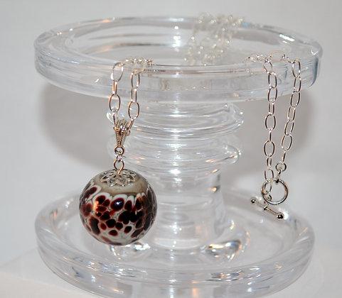 Cranberry Speckle Necklace