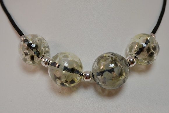 Silvered Ice Necklace