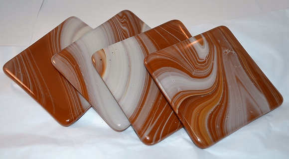 Chocolate Swirl Coasters