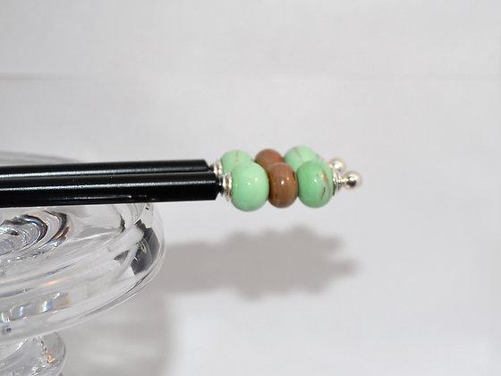Chopsticks/Hair Pins - Mint Chocolate