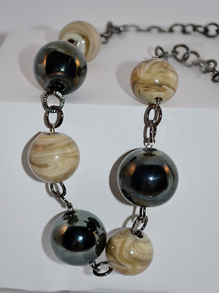 Metallic Fossil Necklace
