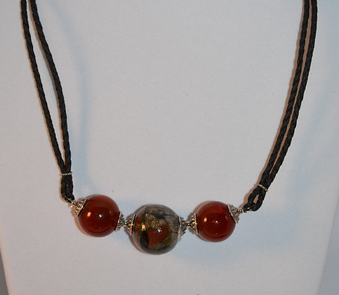 Red Mosaic Necklace