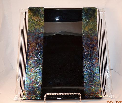 Sleek Black Platter