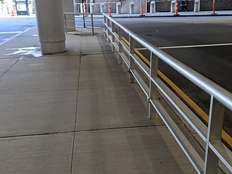 Logan Airport Terminal C Custom Aluminum Guardrails