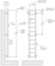 Wall Mounted Mechanical Ladder Drawing p