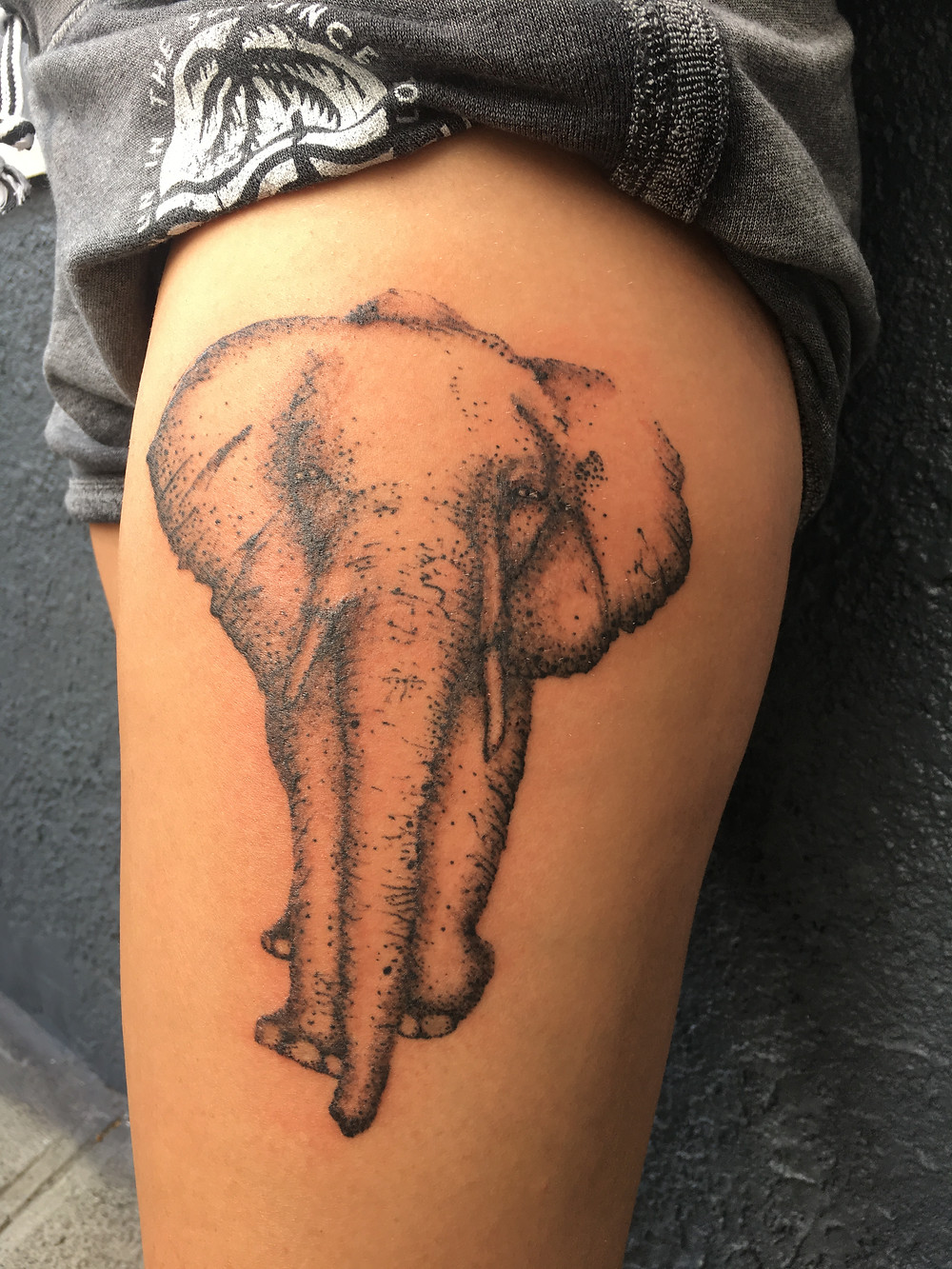 Elephant Tattoo by Ron LeMay