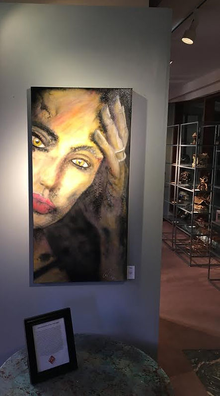 Angelin Jolie Painting by Ron LeMay