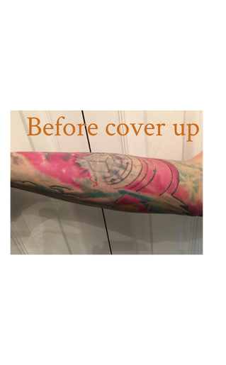 Cover Up Tattoo by Ron LeMay