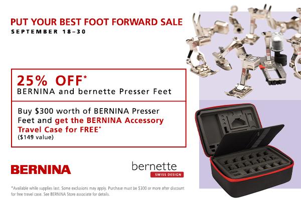 25% Off Presser Feet!!