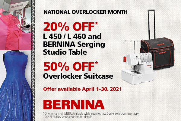 Overlocker Sale - 20% off L 450/L 460! Suitcases 50% Off