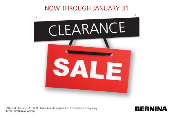 Clearance Sale Through January