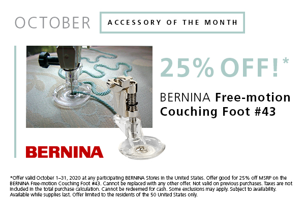 Couching Foot 25% Off