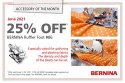 25 % off Ruffler Foot