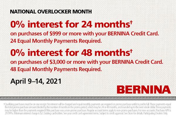 0% Interest Financing!