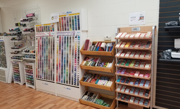 Full lines of thread from Floriani, Aurifil, Mettler, IsaCord, and more