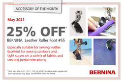 Leather Roller Foot of the Month