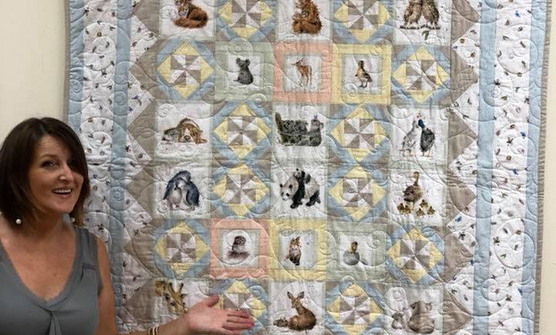 Pam L. showing Baby Quilt