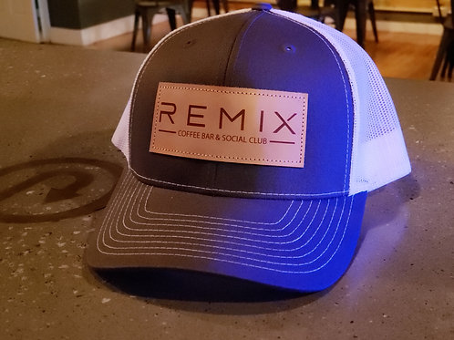 REMIX Leather Patch Hat (snapback)